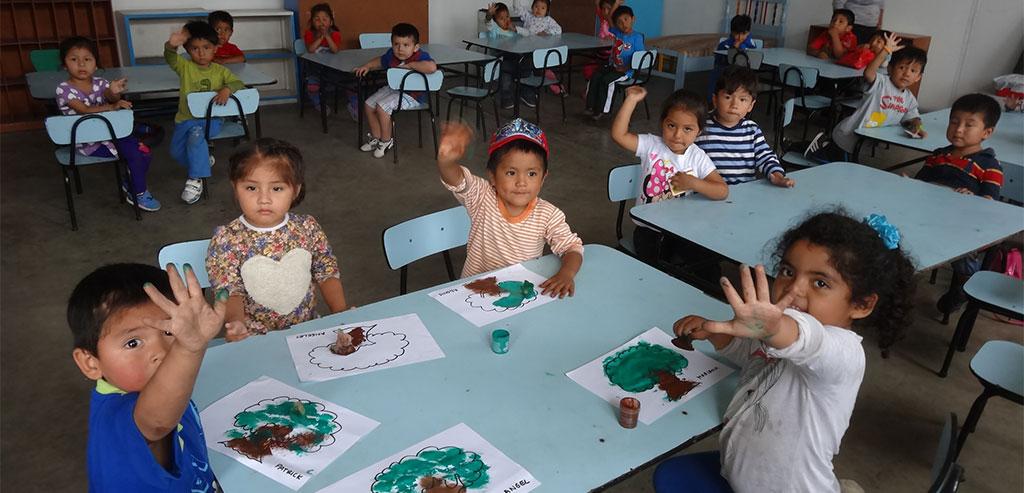 Niños de Educación Inicial del Colegio Fe y Alegría 25.